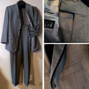 EUC Perry Ellis Gray Wool Lightweight Suit 43R